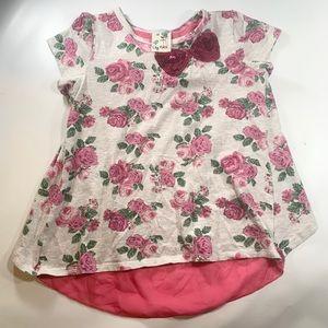 Lily Bleu | Floral Blouse Bow Sequin Open Back